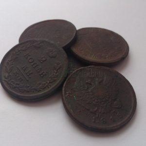 Находки кладоискателей: медные монеты Александра 1, 1810-1830 годов