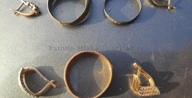 Поиск находок из золота с металлоискателем