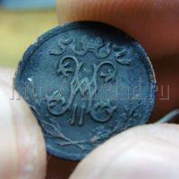 Патинирование медных монет парами серной мази