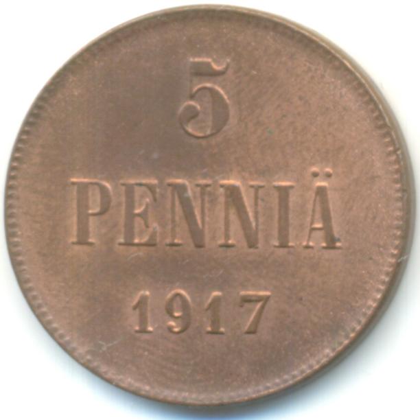 nikolaj2-1917-5_penni-Cu-XF-1