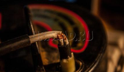 Ремонт перебитого кабеля катушки металлоискателя возле гермоввода катушки Detech