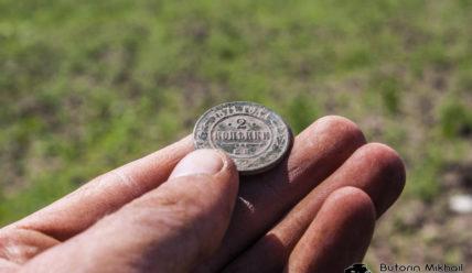 Ополченский крест и поиск монет по жаре