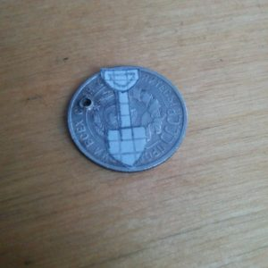 Талисман кладоискателя из серебряной монетки