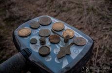 Повезло выкопать две нечастые монетки в урочище