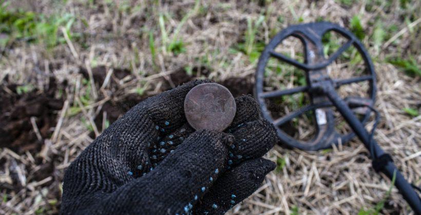 Выкопал медный облачник на выбитом месте. Не зря вернулся на это поле