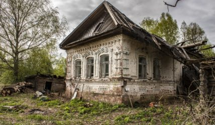 Первые результаты в восстановлении дома предков в старинной деревне