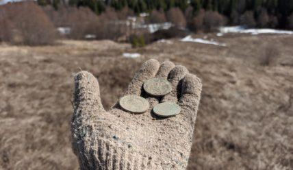 Поискал монеты на старой мельнице около хутора. Мои предположения подтвердились